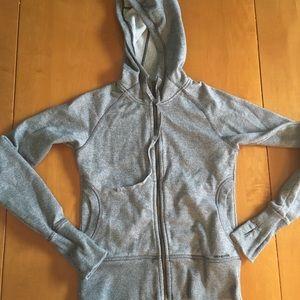 Patagonia small gray zip up hoodie thumb holes